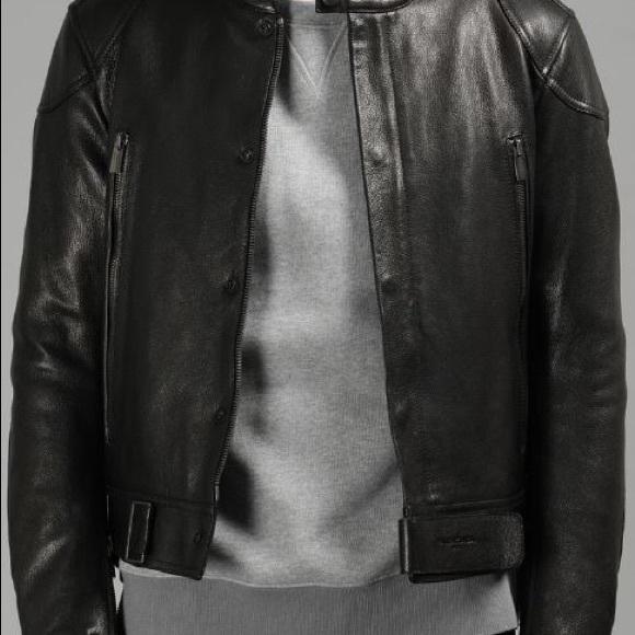 Men s Balenciaga Leather Jacket 9e6f3452c